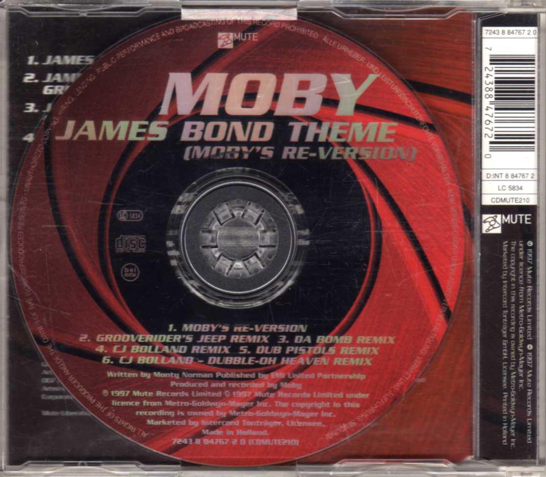 Moby – James Bond Theme (Moby's Re-Version) – CDM