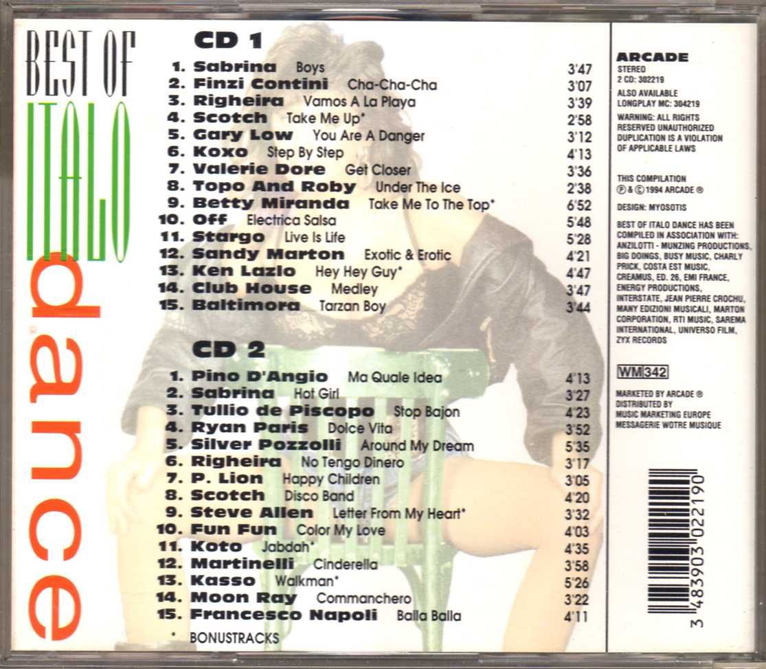 Compilation – Best Of Italo Dance (2 CD)
