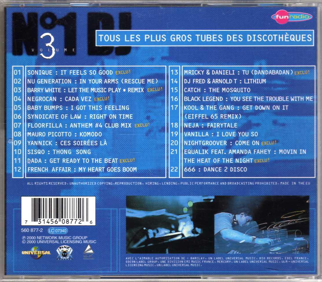 Compilation – N°1 DJ Volume 3 – CD